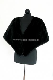 czarna etola do sukienki, w...