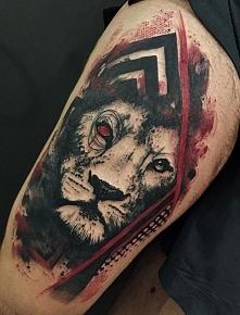 biała głowa lwa