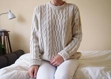 Pleciony sweter na jesienne chłody <3