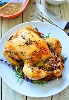 Kurczak faszerowany białą k...