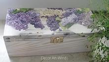 Drewniane pudełeczko na herbatę ozdobione metodą decoupage ;)