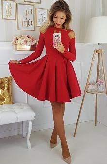 Czerwona sukienka Illuminat...