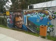 mural upamiętniający Zbigniewa Wodeckiego, oczywiście w Chałupach