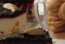 Sernik na zimno z jagodową frużeliną      serek homogenizowany waniliowy 60 d...
