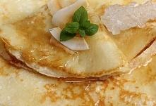 Kokosowe naleśniki z miodem lub syropem klonowym      mąka pszenna 75 gram   ...