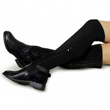 Czarne, eleganckie oficerki - kozaki, które każda elegancka kobieta powinna mieć w swojej szafie. Idealne na złotą polską jesień a także gdy zdarzą się deszczowe dni.