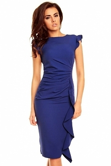 Stylowa Niebieska Sukienka ...