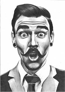 Mój najnowszy portret - pan z wąsem :D po więcej zapraszam na fb i instagram:...
