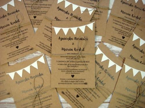Zaproszenia ślubne Papier Eko Jotstudiopl Na Zaproszenia Eko