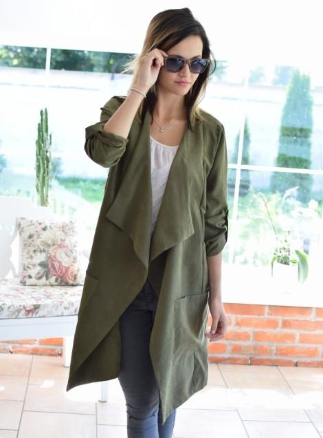 Narzutka / płaszcz CAPRI khaki. Ottanta - sklep online