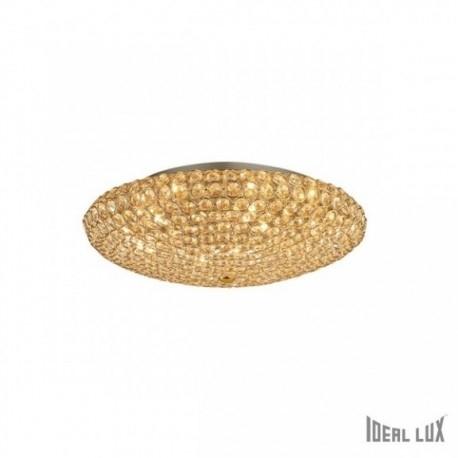 KING PL9 53,5cm IDEAL LUX lampa sufitowa, ścienna 73262 złota    Seria Ideal Lux King to wysokiej jakości, ekskluzywne lampy występujące w kolorze srebrnym oraz złotym. Dzięki wykończeniu stalowych elementów na połysk oraz zastosowaniu mieniących się w świetle kryształków produkt uzyskał niebanalny wygląd. Bez wątpienia znajdzie on zastosowanie w wielu wnętrzach.