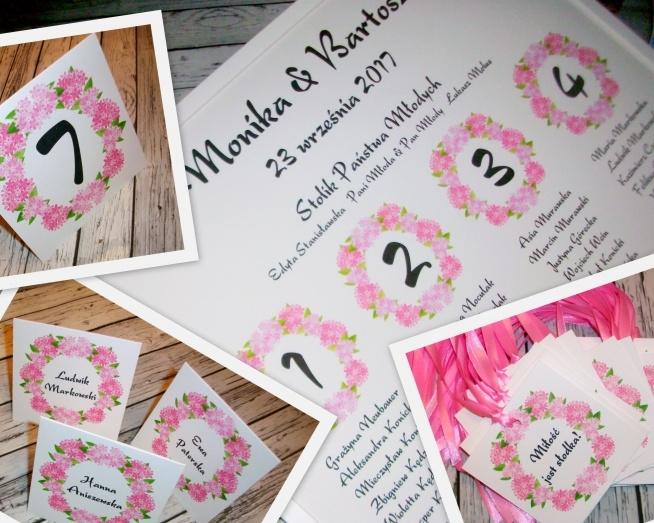 Weselny zestaw kwiatowy :) układ stołów, winietki, zawieszki i numerki  Masz pytania? Chcesz złożyć zamówienie? Pisz! kraina_czarow@interia.pl  *link do aukcji w komentarzu