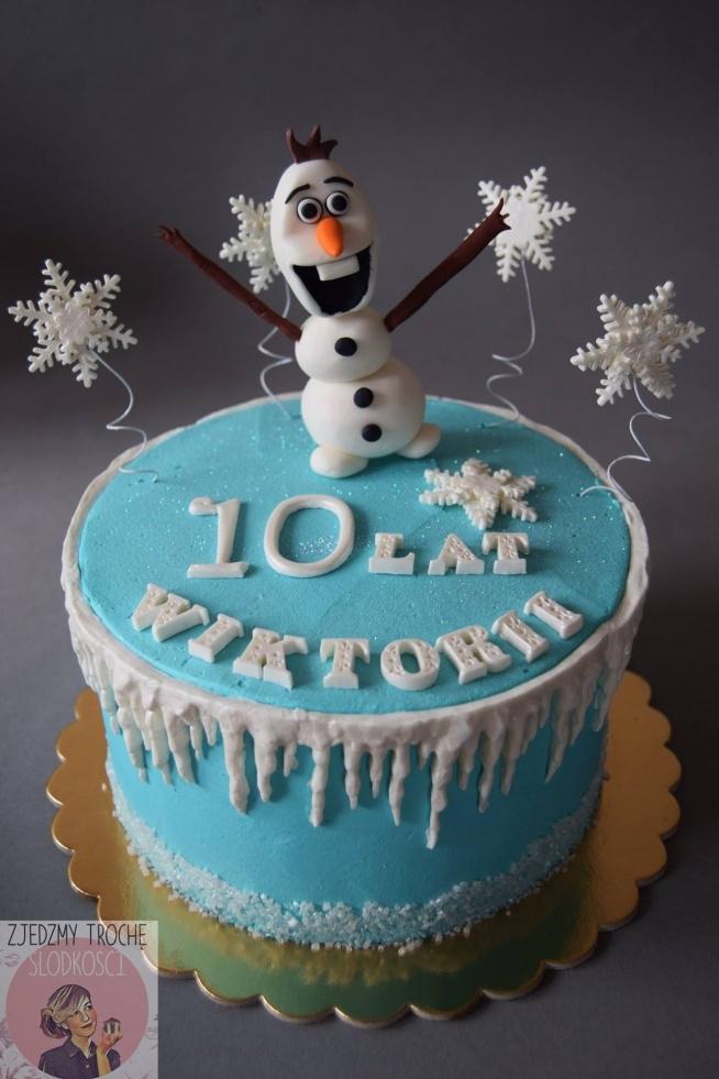 Tort z Olafem z Krainy Lodu