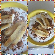 Pieczony banan z granola i ...