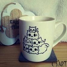 Ręcznie malowane kotki. Idealny prezent dla kotomaniaka:)