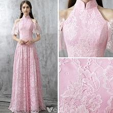 Vintage Rumieniąc Różowy Sukienki Wieczorowe 2017 Princessa Wysokiej Szyi Kótkie Rękawy Bez Ramiączek Długie Wzburzyć Bez Pleców Sukienki Wizytowe