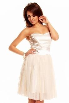 ✅✅Gorsetowa Kremowa Sukienk...