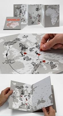 MAPA KSIĄŻKOWA TRANSPARENT WORLD - stwórz własny dziennik z podróży po świeci...