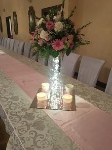 Ozdoba na stół weselny