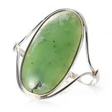 Bransoletka z zielonym kamieniem