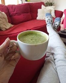 Zamiast kawy :) zielony sok...