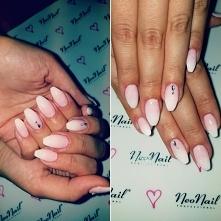 nails #babyboomer #neonail #ballerinanails