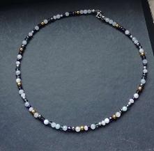 Kolorowa obroża naszyjnik z kamieni półszlachetnych i kryształków - nowa kolekcja Moc Minerałów