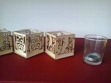 Drewniane osłonki na tealighty