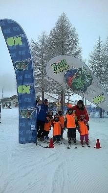 Wspomnienia z Falcade... Nasza szkółka narciarska poziom START ;)
