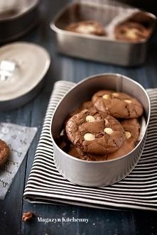 Podwójnie czekoladowe ciastka bez mąki.