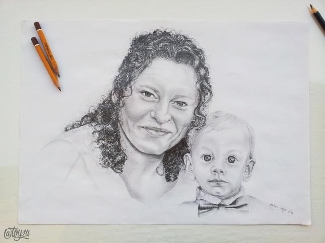 Portret wykonany na zamówienie. Ołówek, A3. Po więcej zapraszam na FB: toyza