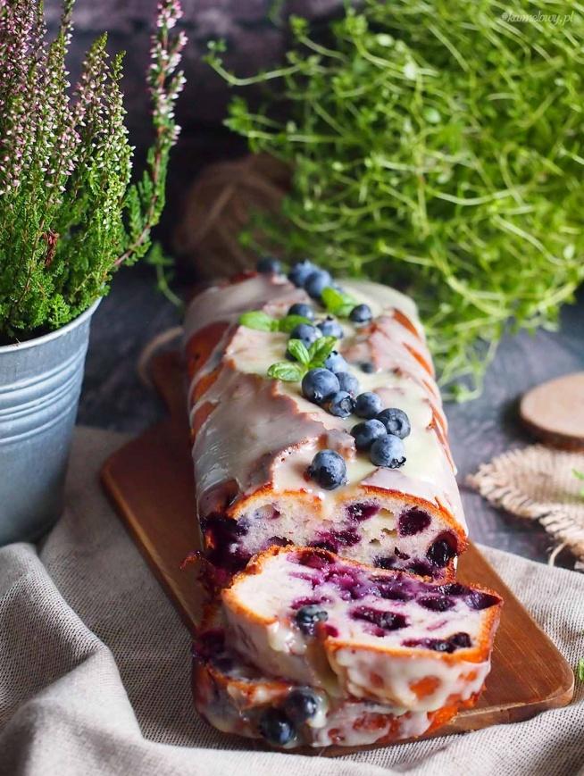 Cytrynowe ciasto jogurtowe z jagodami / Lemon blueberry yogurt cake