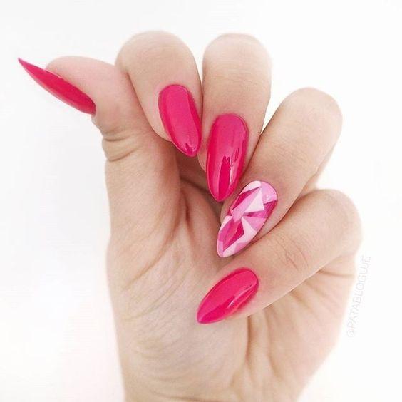 Geometryczne zdobienie na wiosnę! :) Zobacz inne moje stylizacje na blogu! :) #patabloguje #patamaluje #semilac #hybrydy #paznokcie #manicurehybrydowy #stylizacjapaznokci #pazurki #nails #manicure #mani #uv #nailart #gelnails