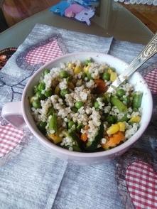 Kasza z warzywami. Pychotka! :)