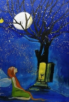 """""""WRACAJ DO DOMU"""" obraz namalowany farbami akrylowymi na płótnie 70x50cm przez artystkę plastyka Adrianę Laube. Obraz naciągnięty na blejtram, ma zamalowane boki, sygno..."""