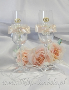 kieliszki toastowe dla Młodej Pary, wesele