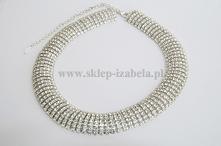 naszyjnik z kryształkami, biżuteria