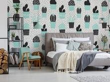Pastelowe... kaktusy! Podoba się Wam taka sypialnia?