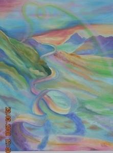 Obraz malowany farbami olej...