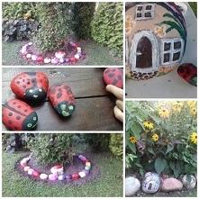 Malowane kamienie do ogrodu