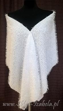 biały szal, do sukienki na ...