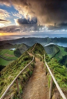 Vulkaankrater Sete Cidades, Azoren in Portugal