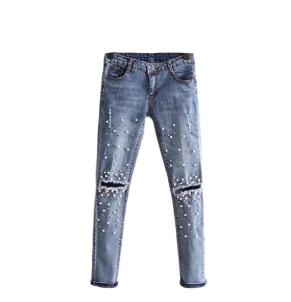 Najmodniejszy element ozdobny tego sezonu - PEREŁKI ♥ Na spodniach wyglądają fenomenalnie i pasują do każdej stylizacji. Kliknij w zdjęcie i zobacz gdzie kupić!