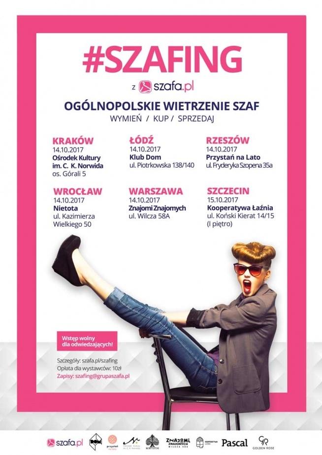 Szafing w 6 miastach w Polsce! <3 Już w najbliższy weekeend (14/15.10)   To idealna okazja do tego, by odświeżyć garderobę na jesień