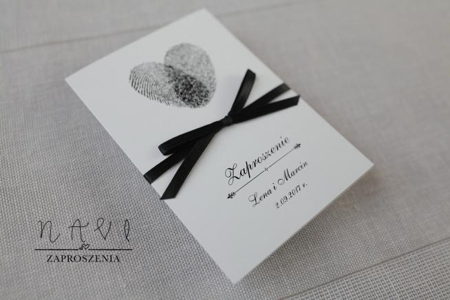 Zaproszenia ślubne eleganckie delikatne proste