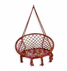 Krzesło hamakowe czerwone w...