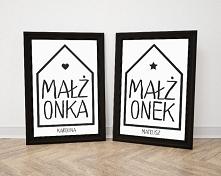 Plakaty ślubne lub dekoracyjne - Mocem i Colour.me - po kliknięciu w grafikę ...