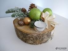 świecznik na drewnie