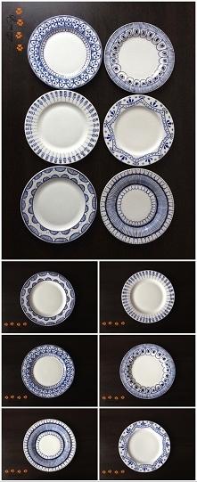 ręcznie malowane talerze na...