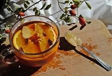 Jesienne wieczory oczywiście z herbatką z cytrynką i miodem